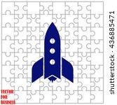 rocket icon. simple black...