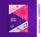 minimalistic design. simple... | Shutterstock .eps vector #436888855