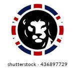 union jack lion leo image...   Shutterstock .eps vector #436897729