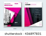 cover design for annual report  ... | Shutterstock .eps vector #436897831