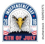 4th of july independence day is ... | Shutterstock . vector #436901971