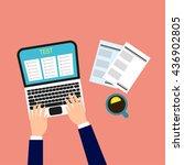 online test. vector... | Shutterstock .eps vector #436902805