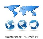 vector globe and map | Shutterstock .eps vector #43690414