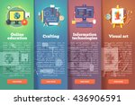 online education. crafting and... | Shutterstock .eps vector #436906591