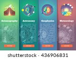 earth planet science banner set.... | Shutterstock .eps vector #436906831