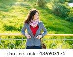 young beautiful romantic... | Shutterstock . vector #436908175