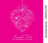valentine card   Shutterstock .eps vector #43691254