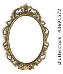 vintage frame isolated on white ... | Shutterstock . vector #43691572