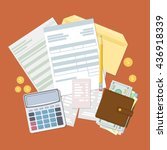 concept of tax payment and...   Shutterstock .eps vector #436918339
