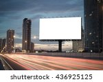blank billboard on the highway... | Shutterstock . vector #436925125