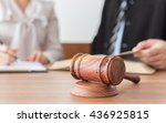 judge gavel with lawyers having ... | Shutterstock . vector #436925815