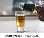 whiskey shot | Shutterstock . vector #43693036