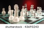 glass chessmen on a smooth... | Shutterstock . vector #43693243