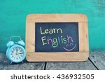 learning english on blackboard. | Shutterstock . vector #436932505