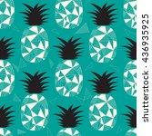 pineapple seamless pattern...   Shutterstock .eps vector #436935925
