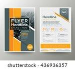 grey and orange geometric...   Shutterstock .eps vector #436936357