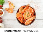 shrimps in the zinc bucket | Shutterstock . vector #436937911