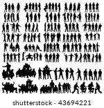 vector people silhouettes | Shutterstock .eps vector #43694221