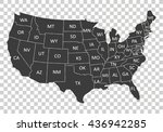 usa map with states | Shutterstock .eps vector #436942285