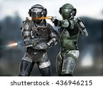 space marines fire team...   Shutterstock . vector #436946215