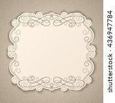elegant luxury vintage... | Shutterstock .eps vector #436947784