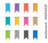 full color ribbon set | Shutterstock .eps vector #436953529