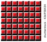 vector red and black cubes... | Shutterstock .eps vector #436958434