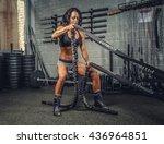 female fitness model exercising ... | Shutterstock . vector #436964851