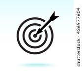 darts target sign icon  vector... | Shutterstock .eps vector #436977604