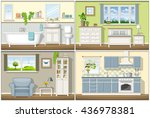 illustration with four classic... | Shutterstock .eps vector #436978381