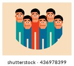 workgroup graphic. flat vector... | Shutterstock .eps vector #436978399
