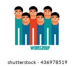 workgroup graphic. flat vector... | Shutterstock .eps vector #436978519