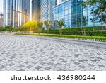 empty cement floor and modern... | Shutterstock . vector #436980244