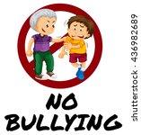 sign warning for no bullying...