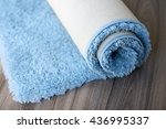 rolled up carpet lying on the... | Shutterstock . vector #436995337
