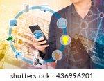 smart building and internet of... | Shutterstock . vector #436996201