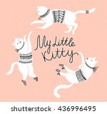 vector card with cute white...