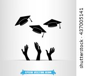 graduation icon vector... | Shutterstock .eps vector #437005141