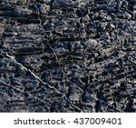 Part Of Rock Closeup With Whit...
