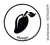 icon of mango. thin circle...   Shutterstock .eps vector #437022079
