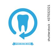 tooth arrow icon vector... | Shutterstock .eps vector #437032321