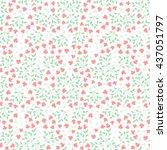 cute floral seamless pattern of ... | Shutterstock . vector #437051797