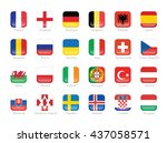 flags of participating... | Shutterstock .eps vector #437058571