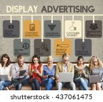 Small photo of Display Advertising Marketing Commercial Concept