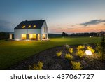 photo of modern house with... | Shutterstock . vector #437067727