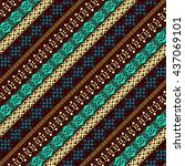 ethnic abstract seamless... | Shutterstock . vector #437069101