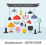home light vector set.vector... | Shutterstock .eps vector #437071939