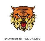 leadership animal logo  ... | Shutterstock .eps vector #437072299