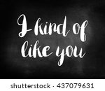 i kind of like you concept | Shutterstock . vector #437079631