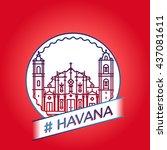 vector line havana badge | Shutterstock .eps vector #437081611